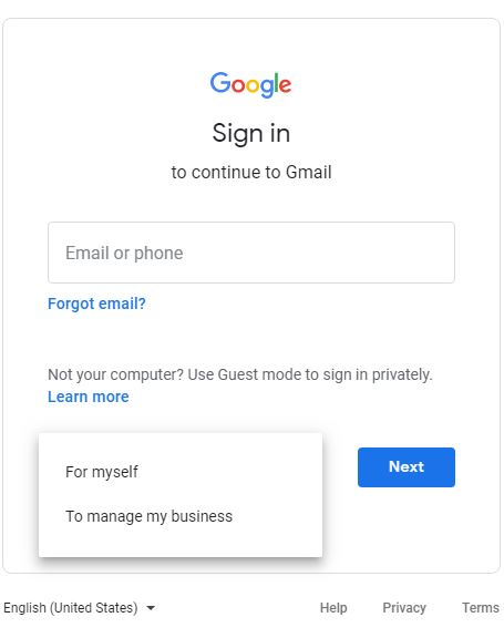 Create account|Gmail Account
