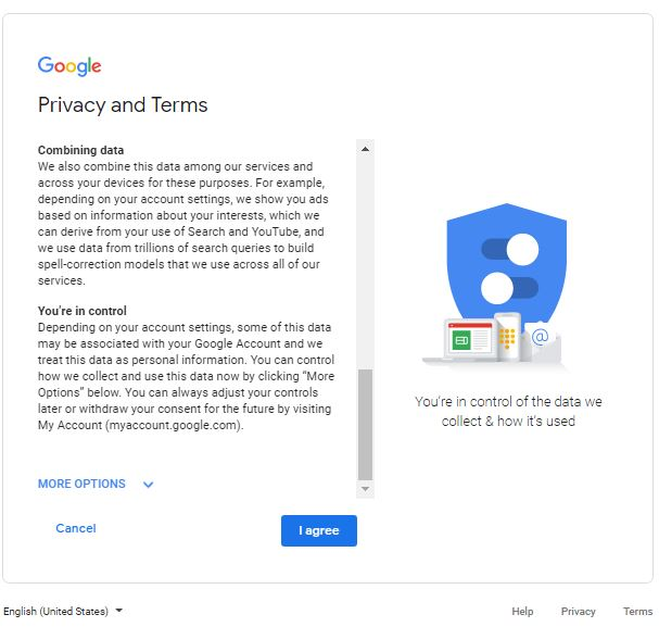 Gmail privacy agreement|Gmail Account