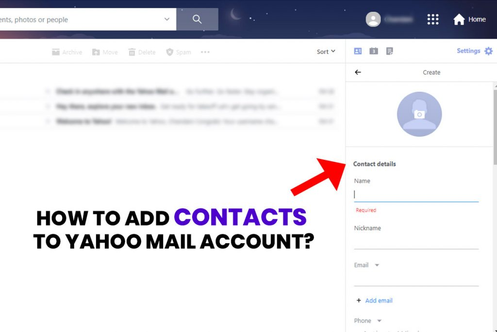 How to Add Contacts to Yahoo Mail Account