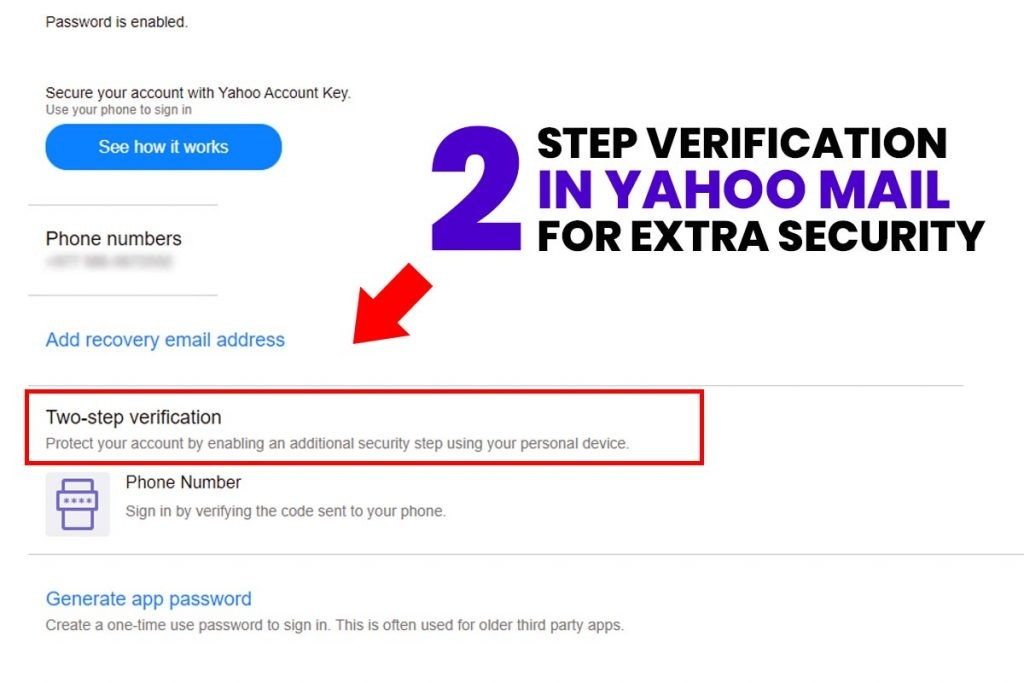 Two-step Verification in Yahoo Mail for Extra Security