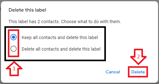 choose and delete