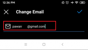 click old email address