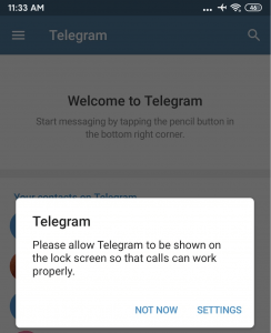 Create A Telegram Account | Settings